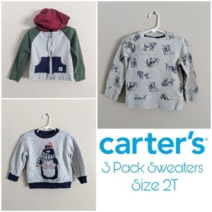 3 Pack Boys 2T Carter's Sweaters